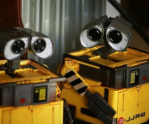 toys, wall-e, and yellow image