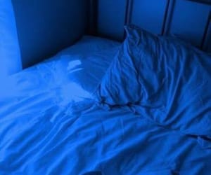 bed, aesthetic, and blue image