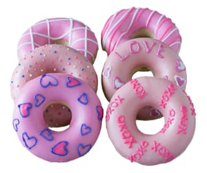 donuts, pink, and png image