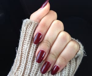 fall, nails, and sweater image