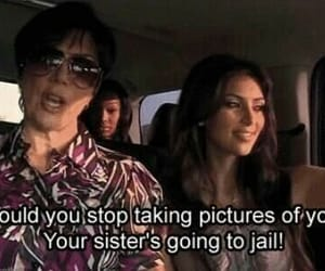 kim kardashian, funny, and jail image
