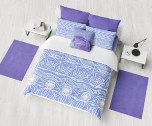 bedroom decor, duvet cover, and blue bedroom image