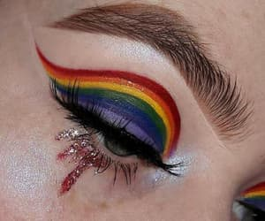 makeup and rainbow image