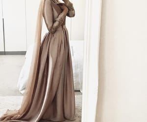 hijab, beige, and dress image