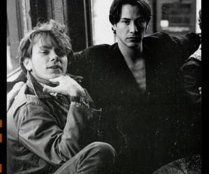 keanu reeves, river phoenix, and 90s image