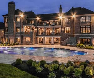mansion and pool image