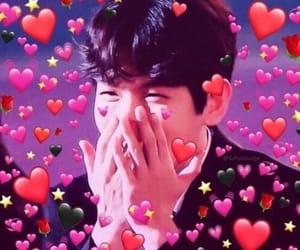 baekhyun, exo, and hearts image