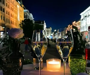 champagne, evening, and lights image