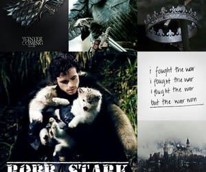 king, young wolf, and jon snow image