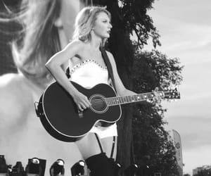1989, black and white, and Taylor Swift image