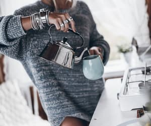 cottage, fashion blogger, and coffee time image