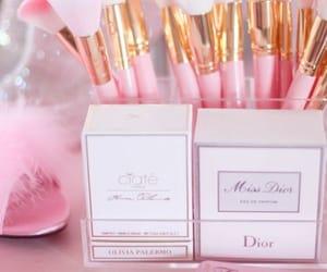 pink, makeup, and dior image