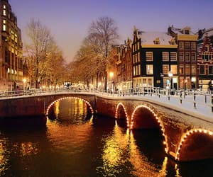 amsterdam, lights, and christmas image