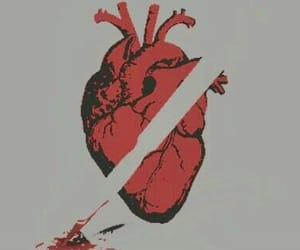 art, cool, and heart image