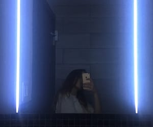 aesthetic, girl, and lines image