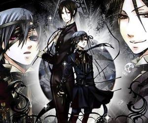 black butler, ciel, and sebastian image