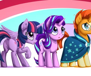 cartoon, fanart, and my little pony image