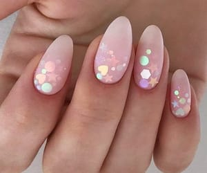 glitter and nailart image