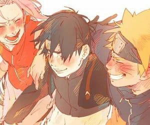 sai, naruto, and sakura haruno image