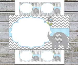 etsy, instant download, and elephant baby shower image