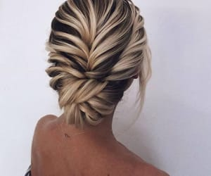 blond, coiffure, and cheveux image