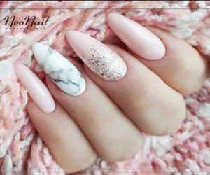 nails, pink, and 🏼 image
