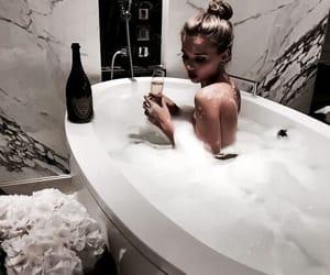 girl, luxury, and bath image