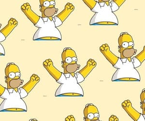 homer, simpsons, and wallpaper image