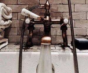 bathroom, bathtub, and water image
