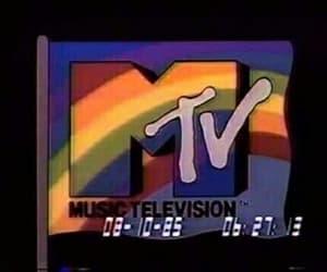mtv, rainbow, and aesthetic image