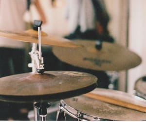 drums, music, and vintage image
