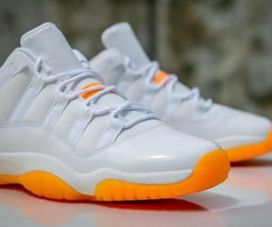 orange, sneakers, and jordans image