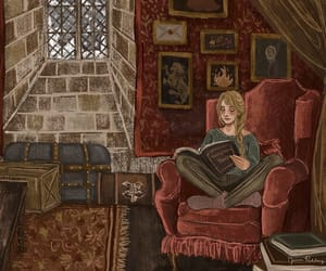 autumn, harry potter, and reading image