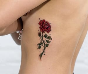 tattoo, body art, and flowers image