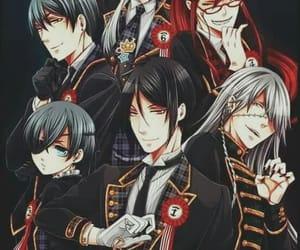anime, black butler, and sebastian michaelis image