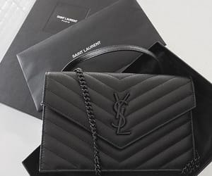 YSL, black, and saint laurent image