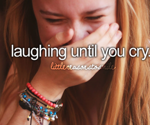 girl, cry, and laugh image