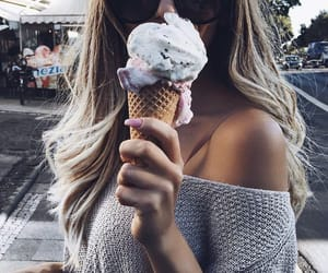 girl, ice cream, and tumblr image