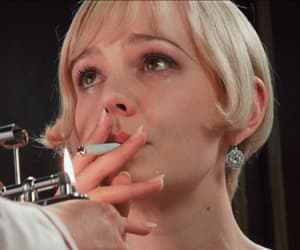 daisy great gatsby, the cigarette fire, and flame girl lovely image