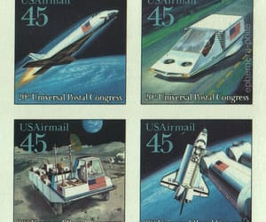 airmail, stamps, and Space Shuttle image