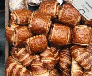 bread, croissant, and sweet image