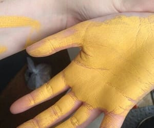 yellow, aesthetic, and paint image