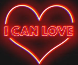 neon, love, and heart image