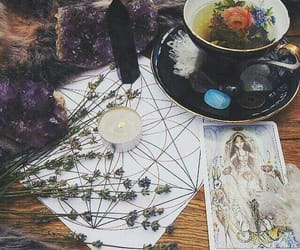 witch, magic, and tarot image