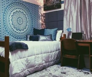 college, room decor, and dorm room image