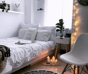 bedroom, lights, and goals image