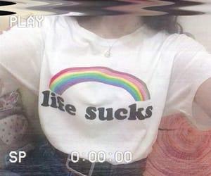edgy, grunge, and rainbow image