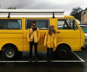 yellow, aesthetic, and couple image