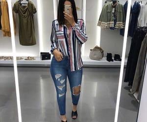 beauty, fashion, and jean image