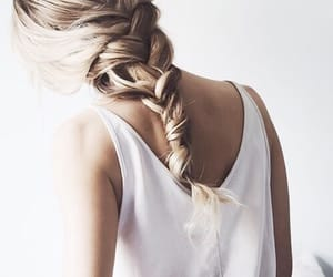 blonde, braid, and minimal image